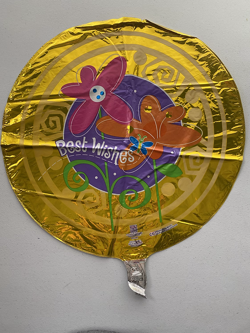 Gold Best Wishes Foil Balloon