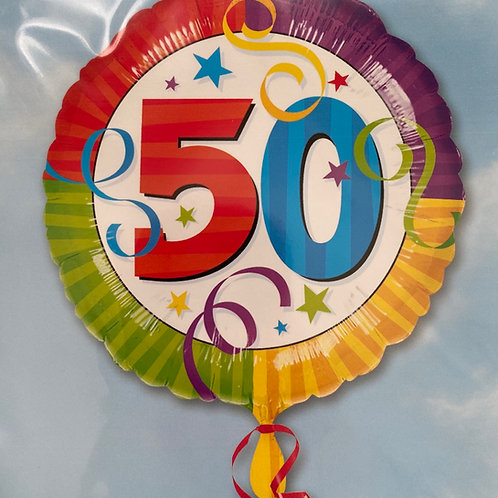 50 Birthday Foil Balloon