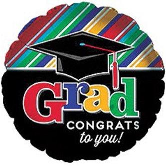 Grad Congrats to You Foil Helium Balloon
