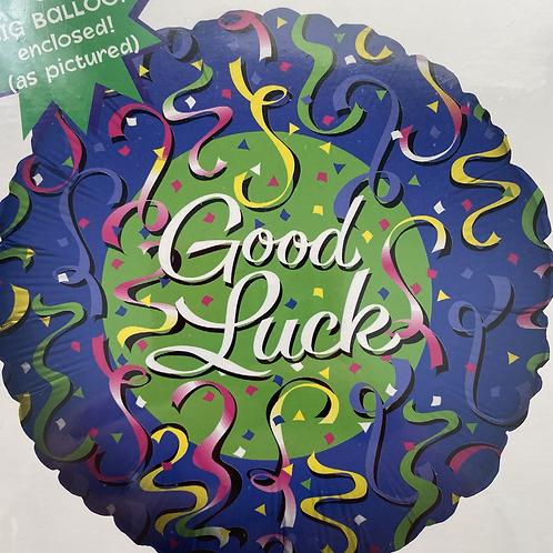 Good Luck Streamers Foil Balloon
