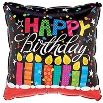 Happy Birthday Square Foil Balloon