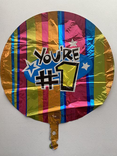 #1 Stripes Foil Balloon