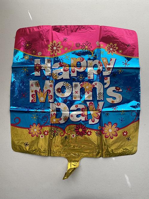 Happy Moms Day Square Foil Balloon