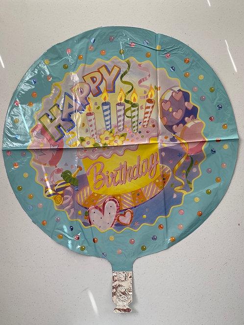 Pastel Happy Birthday Foil Balloon