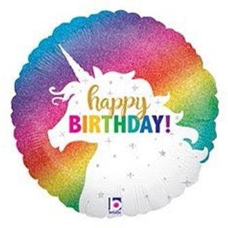 Happy Birthday Unicorn Foil Balloon