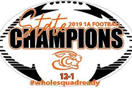 2019 State Champions Car Decal