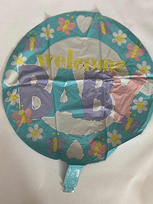 Welcome Baby Spring Foil Helium Balloon