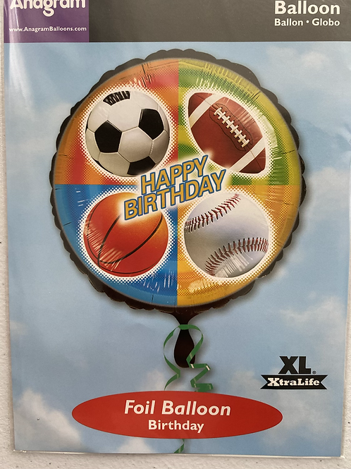 Quad Sports Happy Birthday Foil Balloon