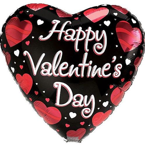 HVD Black Heart Foil Balloon