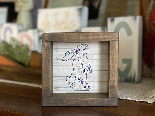 Floral Bunny  Sign