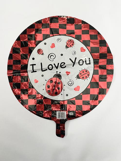 I Love You Ladybug Foil Balloon