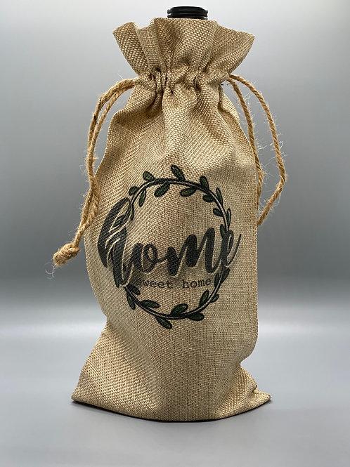 Home Sweet Home Wine Bag