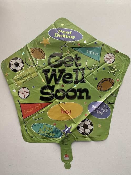 Get Well Soon Sports Star Foil Balloon