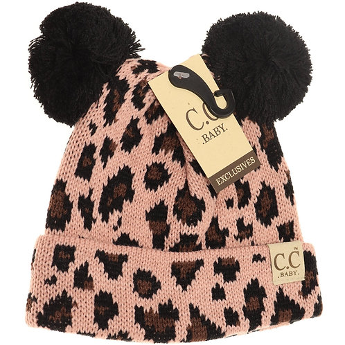 CC Baby Leopard Double Pom Pom