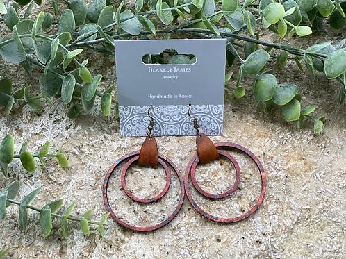 Patina Double Hoop Earrings -Preorder