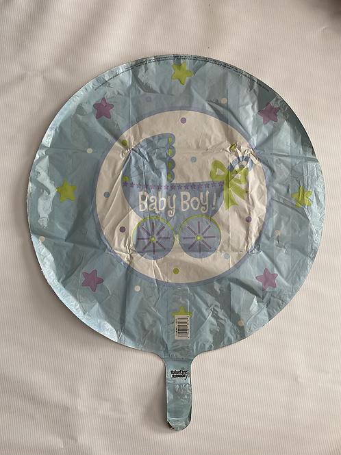 Baby Boy Carriage Foil Helium Balloon