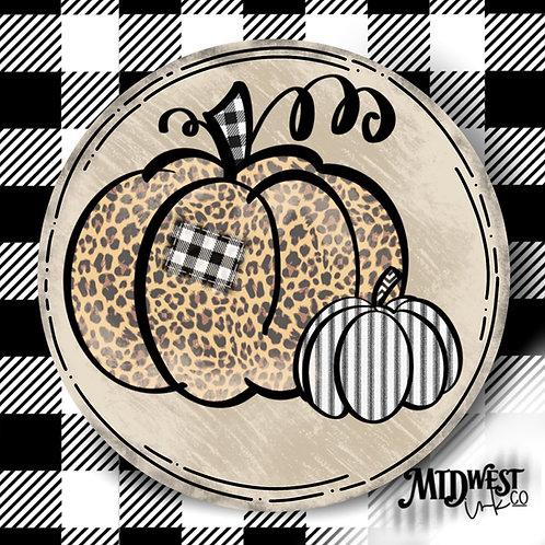 Fall Pumpkin Coaster Set of 2