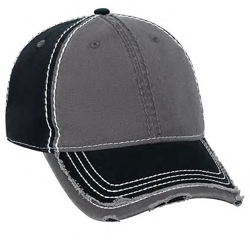 Heavy Stitched Distressed Dad Cap