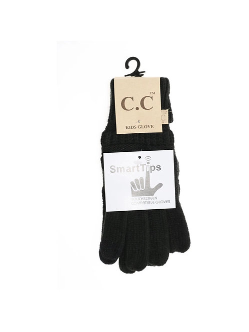 CC Kids Solid Cable Knit Gloves