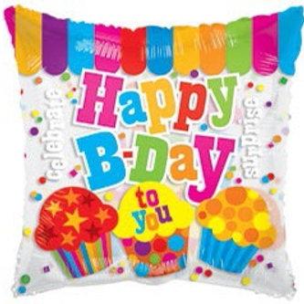 HBD Clear Birthday Foil Balloon
