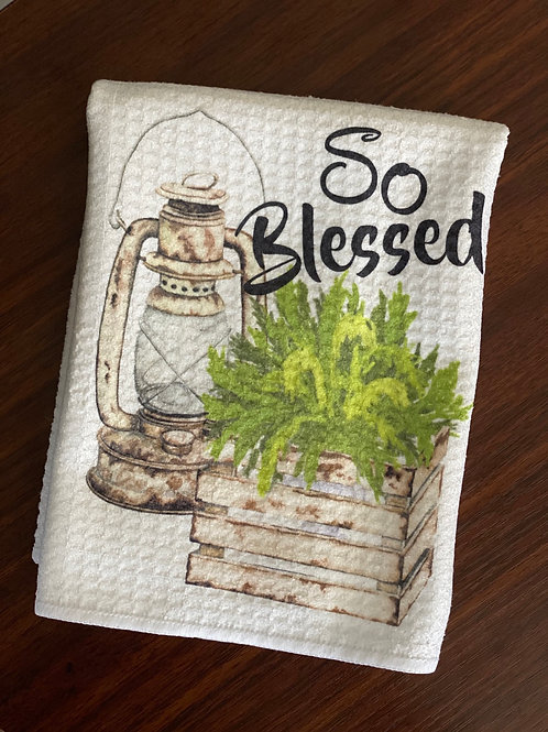 So Blessed Waffle Towel