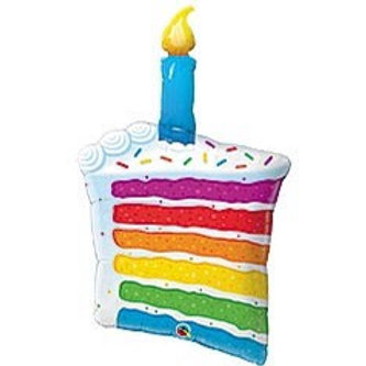 Rainbow Cake Foil Balloon