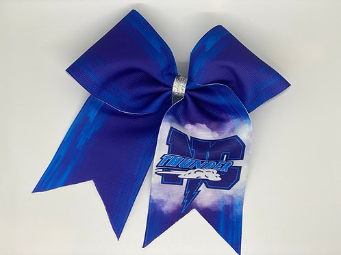 NC Clouds Cheer Bow