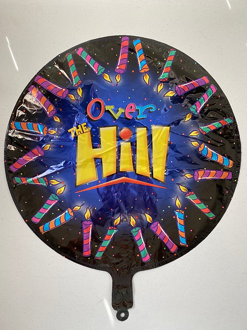 Over the Hill Candle  Foil Balloon