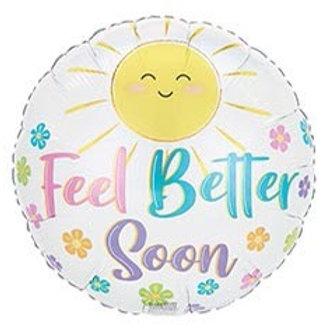 Feel Better Soon Sunshine Foil Balloon