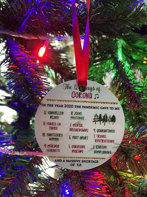 12 Days of Corona Ornament