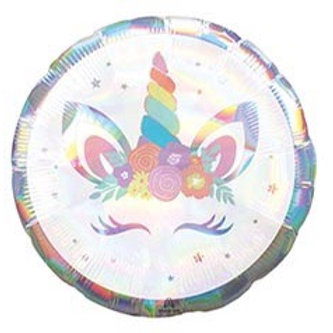 Holographic Unicorn Party Foil Balloon