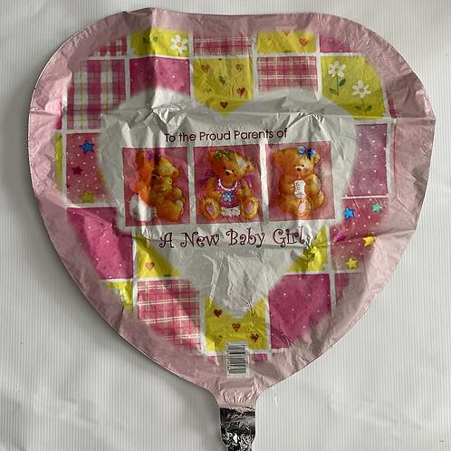 Baby Girl Proud Parents Foil Helium Balloon