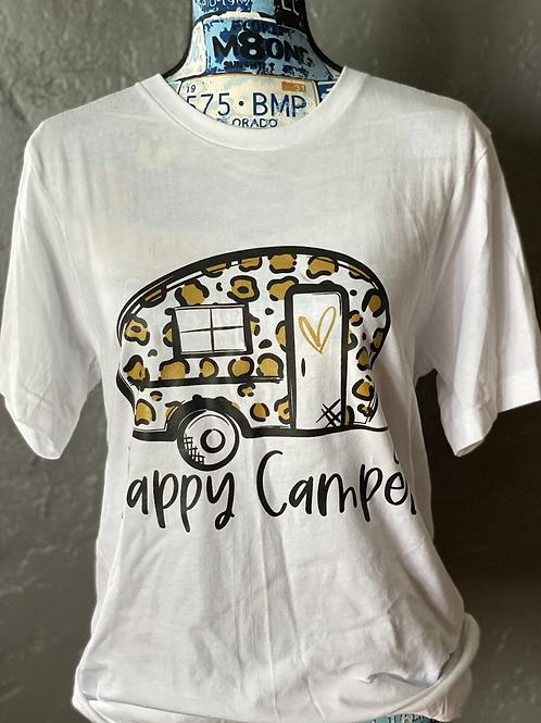 Happy Camper Metallic Leopard Tee