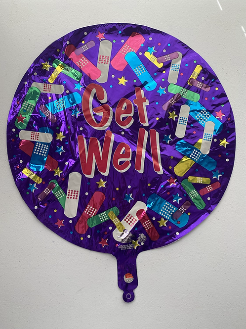 Get Well Bandaids Foil Balloon