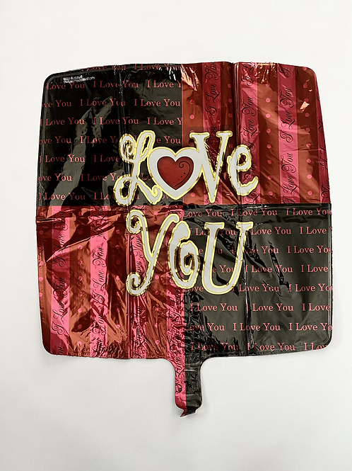 Lov You Patchwork Square Foil Balloon