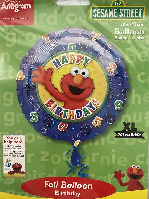 Elmo Happy Birthday Foil Balloon