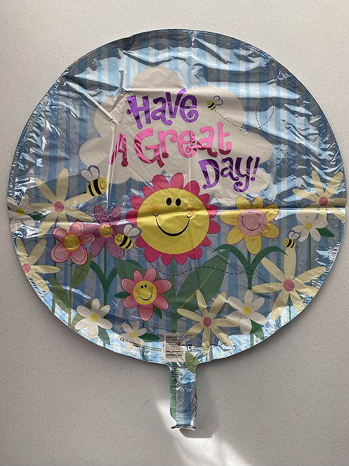 Have a Great Day Sun and Bees Foil Balloon