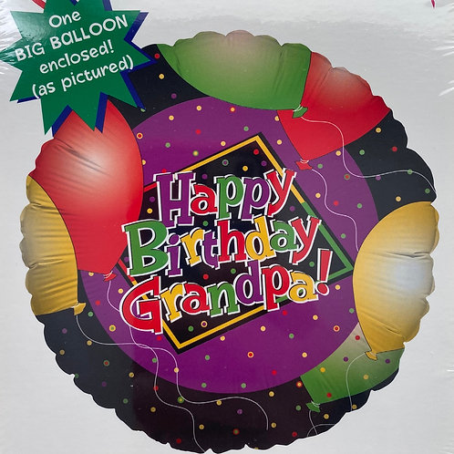 Happy Birthday Grandpa Foil Balloon