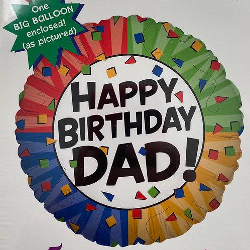 Happy Birthday Dad Foil Balloon