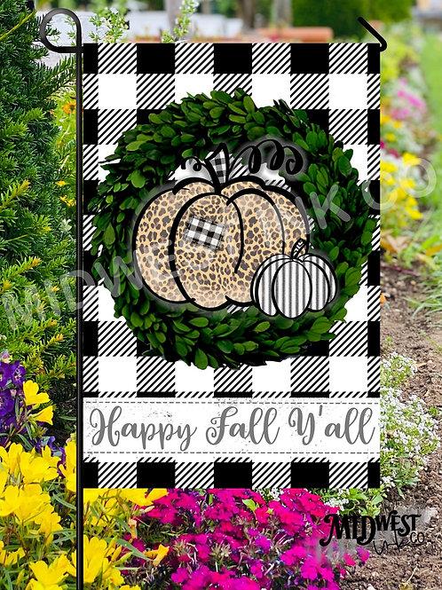 Fall Y'all Garden Flag