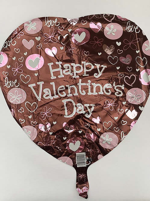 Brown and Pink HVD Foil Balloon