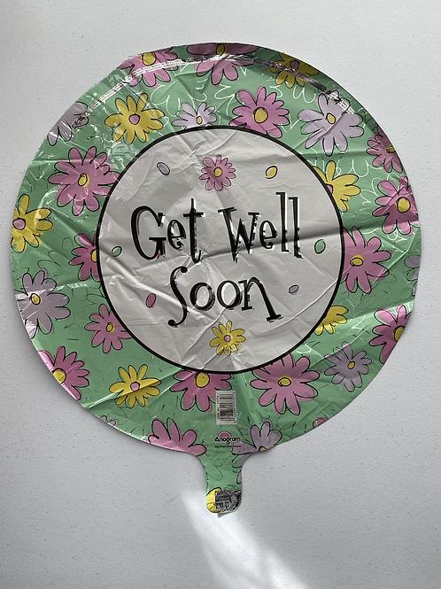 Get Well Soon Daisy Foil Balloon