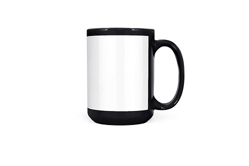 15 oz Black Coffee Mug