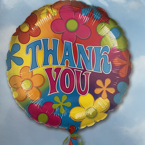 Groovy Floral Thank You Foil Balloon