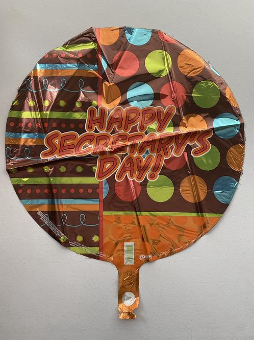 Brown Happy Secretary Day Foil Balloon