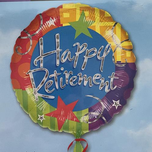 Happy Retirement Stars Foil Balloon
