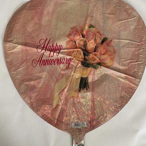 Happy Anniversary Rose Boquet Helium Balloon