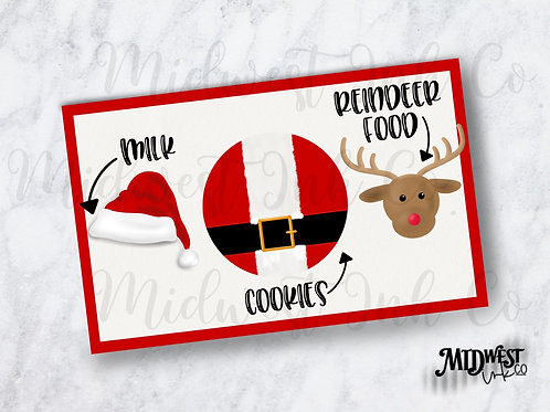 Santa  and Rudolph Milk and Cookies Placemat