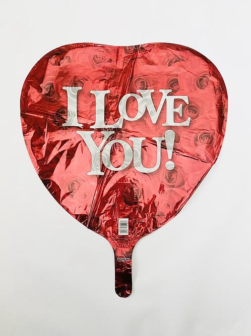 I Love You Rose Heart Foil Balloon