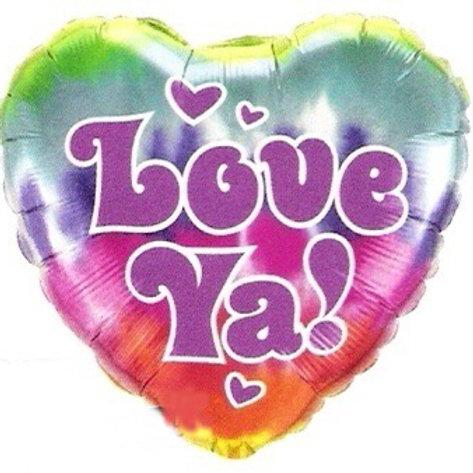 Love Ya Tie Dye Foil Balloon